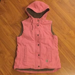 Carhartt Sherpa Lined Vest Pink Size Small